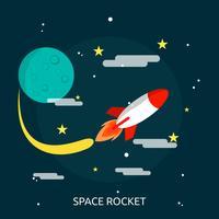 Weltraumrakete konzeptionelle Illustration Design vektor