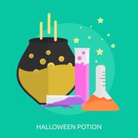Halloween Potion Konceptuell illustration Design vektor
