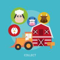 Sammeln Sie konzeptionelle Illustration Design