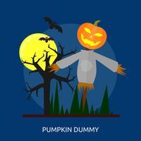 Pumpa Dummy Konceptuell Illustration Design