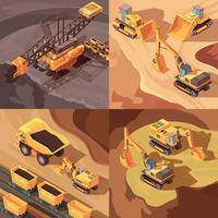 Bergbau-Gestaltungskonzept