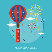 USA Unabhängigkeit konzeptionelle Illustration Design