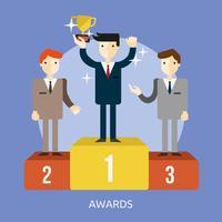 Auszeichnungen konzeptionelle Illustration Design