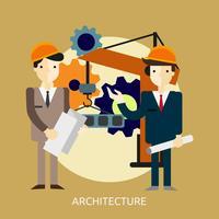Architektur konzeptionelle Abbildung Design vektor