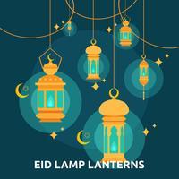 Eid Lamp Lenterns Konceptuell Illustration Design vektor