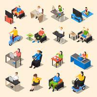 Sitzendes Leben-Icon-Set