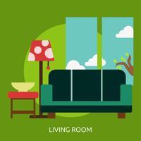 Wohnzimmer konzeptionelle Illustration Design vektor
