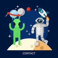 Kontakt Begriffsillustration Entwurf