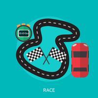 Rennen konzeptionelle Illustration Design