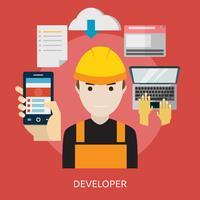 Entwickler Konzeptionelle Illustration Design vektor