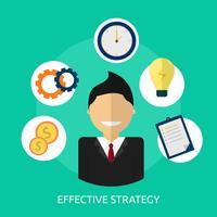 Effektiv strategi Konceptuell illustration Design vektor