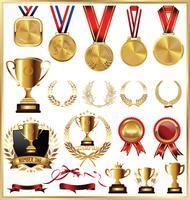 medaljer vektor