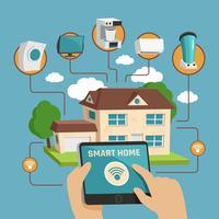 Smart Home Design Konzept vektor