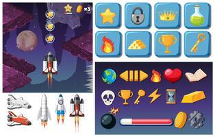 Videospiel zum Thema Weltraum