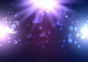 Bokeh lyser bakgrund med strålkastare