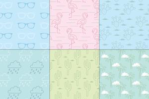 sömlösa pastell sommar mönster vektor