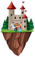 Isolerad prins och prinsessor slott