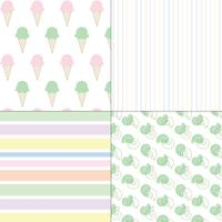 glass skal och ränder pastell sömlösa mönster vektor