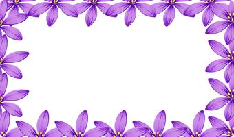 En lila blomram