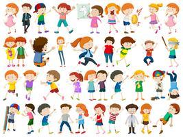 Sats av barn karaktär vektor