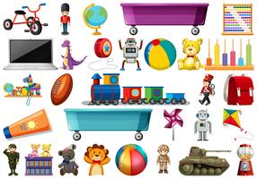 Set von Kinderspielzeug vektor