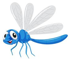 Ein blauer Libellencharakter vektor