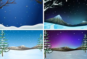 Set Winterlandschaft