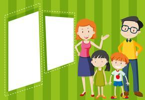 Familie auf leere Vorlage vektor