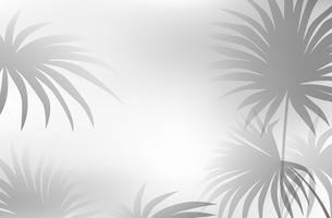 En svart vit lövbakgrund vektor