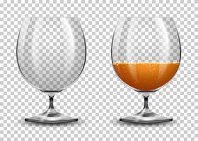 Set aus transparenten Gläsern vektor