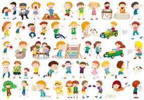 Große Gruppe von Kindern vektor