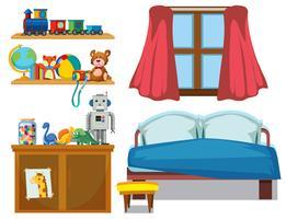Satz von Schlafzimmerelement vektor