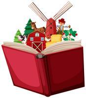 Bauernhof in einem Buch
