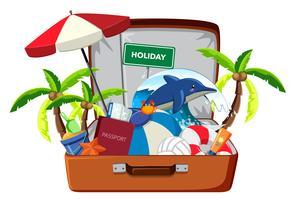 Feiertagselement im Gepäck vektor