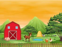 Eine wunderschöne Farmlandschaft