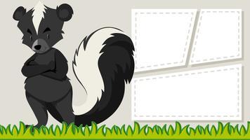Ein Stinktier auf leeren Banner vektor