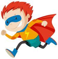 En msle super hjälte karaktär vektor