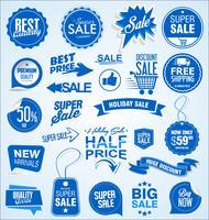 Försäljning banner mallar design och specialerbjudanden taggar samling vektor