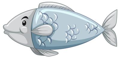 Eine einfache Fischzeichentrickfigur vektor