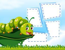 Caterpillar an auf Hinweisschablone vektor