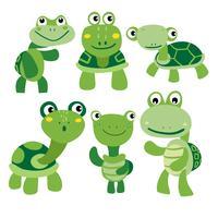 Schildkröte-Charakter-Vektor-Design vektor