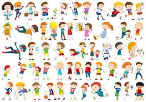 Set von Kinderzeichen vektor