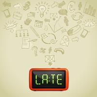 business lateness koncept vektor