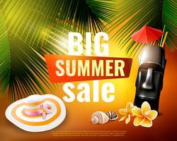 Hawaiian Summer Sale-Poster vektor