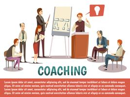 Business Coaching Hintergrund vektor