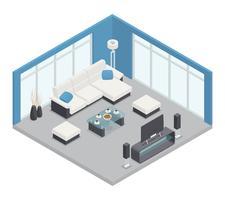 Isometrische Zusammensetzung des Esszimmers