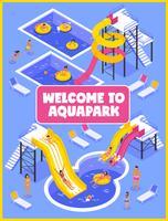 Aquapark-Plakat vektor