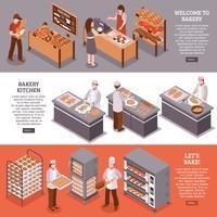 Isometrische horizontale Banner der Bäckerei