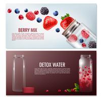 Detox Drycker Horisontella Banderoller