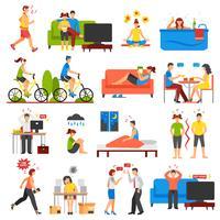 Stress och avslappnad uppsättning